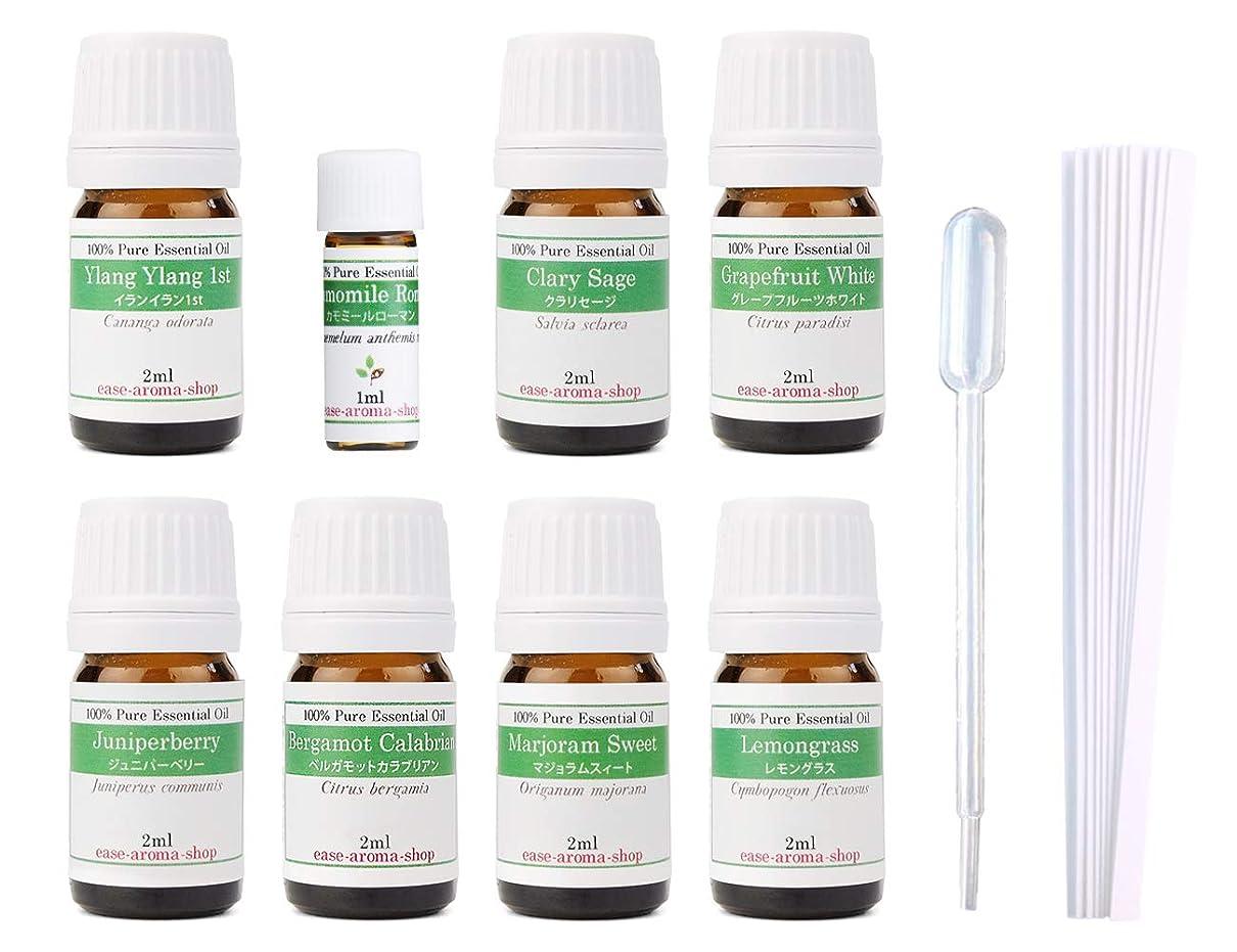 ヒント置換省略【2019年改訂版】ease AEAJアロマテラピー検定香りテスト対象精油セット 揃えておきたい基本の精油 1級 8本セット各2ml