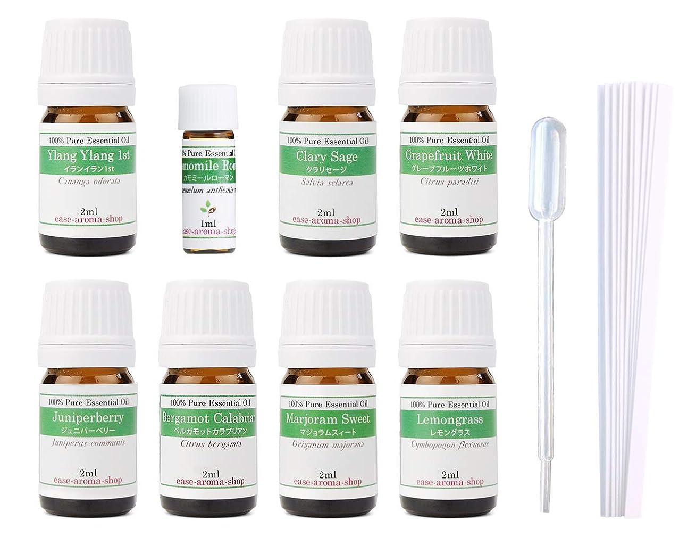 最少男やもめ絶望的な【2019年改訂版】ease AEAJアロマテラピー検定香りテスト対象精油セット 揃えておきたい基本の精油 1級 8本セット各2ml