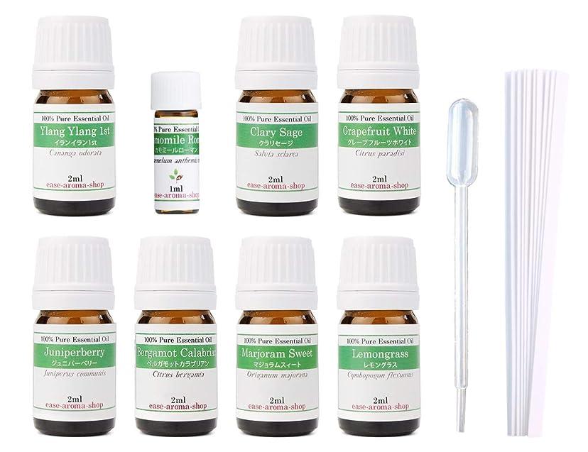 ボールペスト安全な【2019年改訂版】ease AEAJアロマテラピー検定香りテスト対象精油セット 揃えておきたい基本の精油 1級 8本セット各2ml