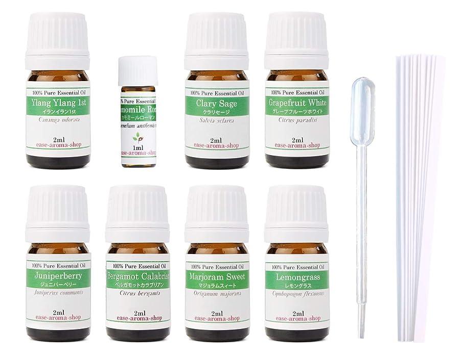 解任抜け目のない緊張【2019年改訂版】ease AEAJアロマテラピー検定香りテスト対象精油セット 揃えておきたい基本の精油 1級 8本セット各2ml