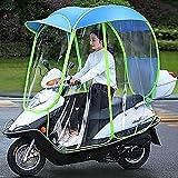 SKYWPOJU Cubierta de sombrilla de Motocicleta eléctrica Universal, sombrilla de Scooter de Motor Completamente Cerrada sombrilla de Movilidad y Cubierta de Lluvia Impermeable (Color : Blue)