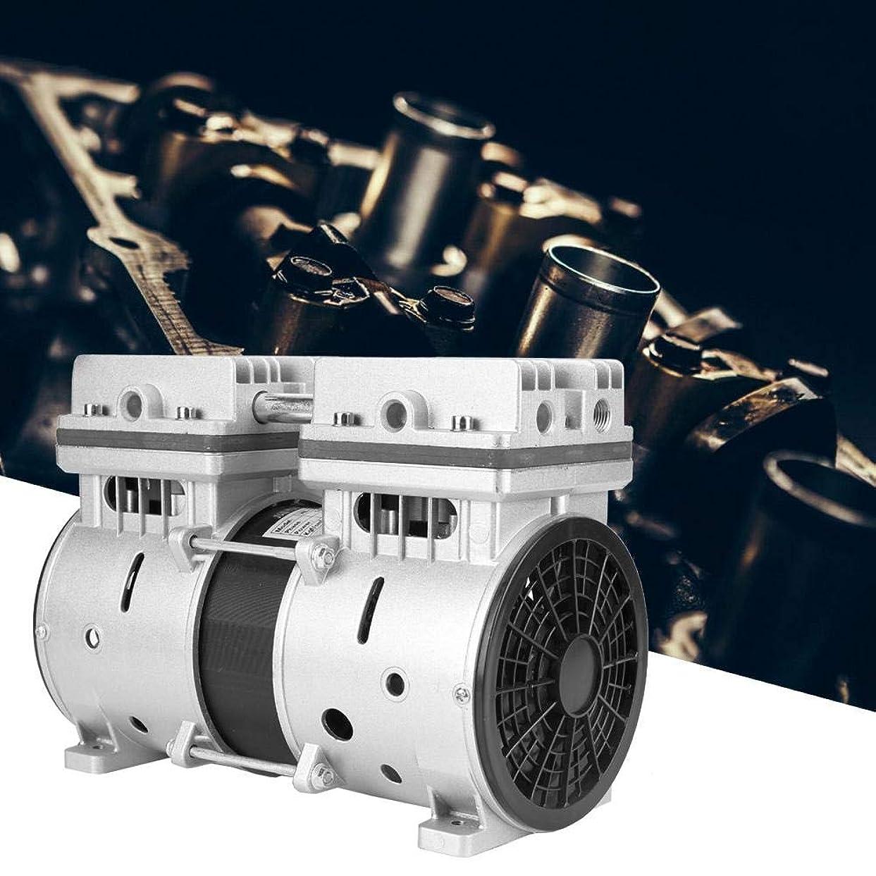 影のある簡潔なそばに真空ポンプ、220V 370Wオイルフリーピストン真空ポンプ740mmHg/-98.6kpa 80L/min高真空エアポンプ