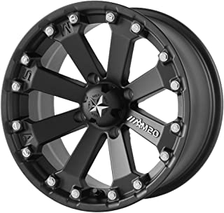 MSA OFFROAD WHEELS M20 KORE Satin Black Wheel with Painted and Chromium (hexavalent compounds) (14 x 7. inches /4 x 86 mm, 0 mm Offset)