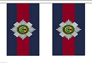 British Army Scots Guards Material String Flags / Bunting 10m (33') Long With 28 Flags