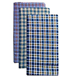 Crispy Valley Cotton Lungi Assorted Color Checks Pack of 3
