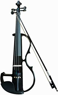 TFBTLZL 4/4 electronic violin, handmade solid wood ebony small draw, playing electro-acoustic violin instruments, playing ...