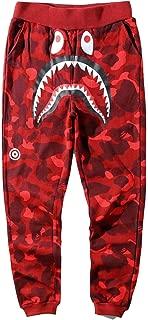 Unisex Sports Ape Bape Casual Sweatpants Men Trousers Athletics Sweatpants Shark Head Jaw Shorts Rap Sweatpants