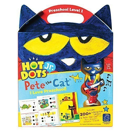 Educational Insights Hot Dots Jr. Pete The Cat - I Love Preschool Set