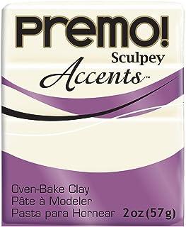 Premo Sculpey Polymer Clay 2 Ounces-White Translucent (PE02 5527)