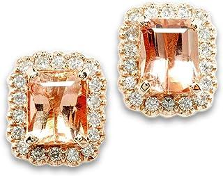 【鑑別付】K18PG 天然 インペリアルトパーズ ダイヤモンド 18金ピンクゴールド 18K 18金 ピンク トパーズ インペリアル ダイア ピアス レディース