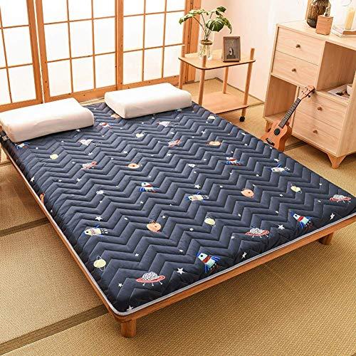 YDYL-LI Sleeping Tatami Floor Mat Quilting Foldable Futon Tatami Mattress Soft Thicken Sleeping Mat Roll-up Japanese Student Dormitory Mattresses Pad E 180x200cm(71x79inch)