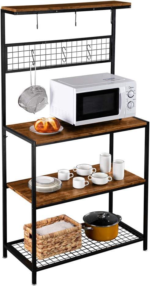 ROVSUN Multiuse 4-Tier Metal Very popular! Kitchen Bakers Microwave Rack Spasm price Sto