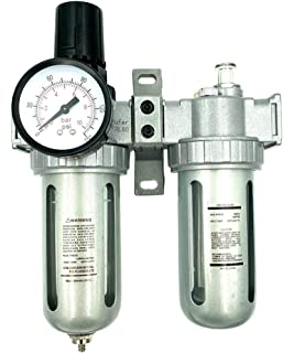 BRUFER AFRL80 Air Filter Regulator and Lubricator Combo 1/2