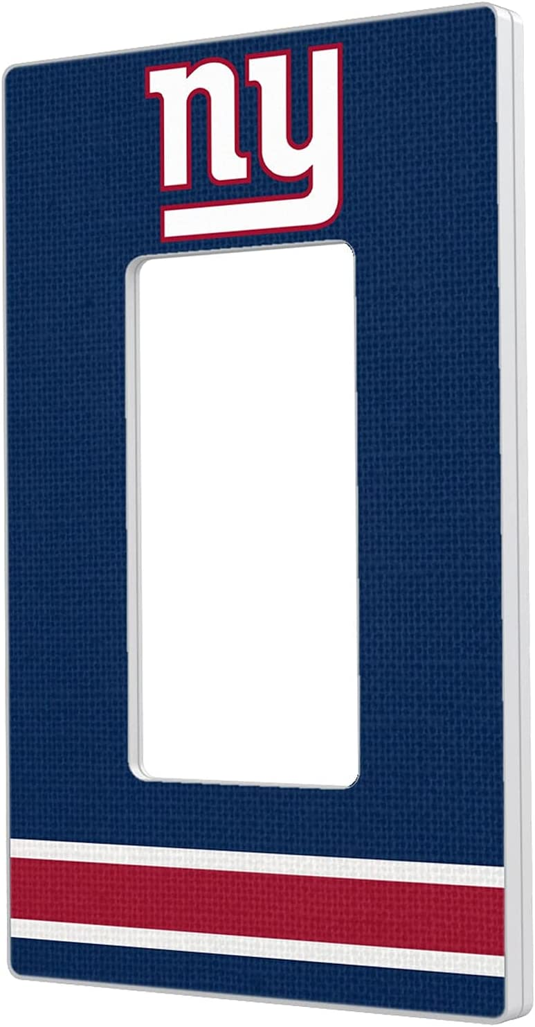New York Giants Stripe Single A surprise price Limited time cheap sale is realized Switch Light Plate Rocker