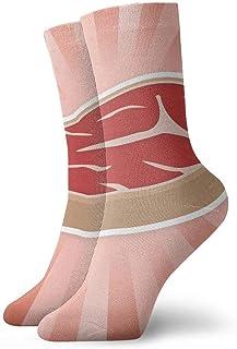 tyui7, Calcetines de compresión antideslizantes de carne de res Calcetines deportivos de 30 cm para hombres, mujeres y niños
