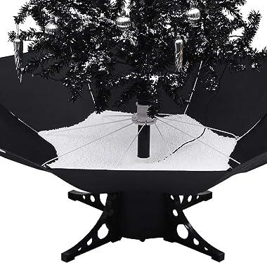 VidaXL Sapin de Noël avec pied de parasol Noir 140 cm PVC