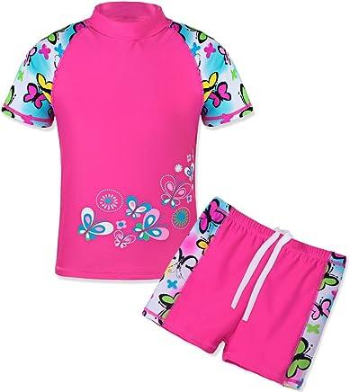 1cda6fe37fb8b TFJH E Girls Swimsuit Two Piece Swimwear 3-12 Years UPF 50+ UV