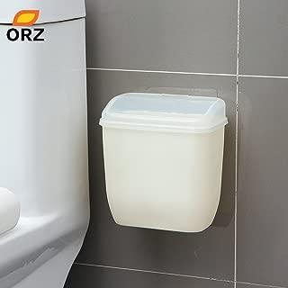 wall mounted trash can bathroom