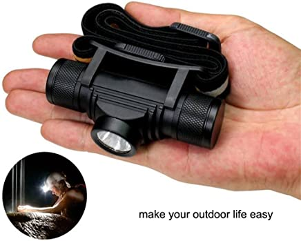 Compact LED Headlamp 800 lm Micro USB Rechargeable Waterproof Headlight (single light)