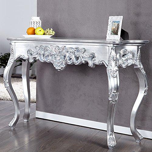 CAGÜ - ROMANTISCHE Konsole [Florence] Silber ANTIK in BAROCK-Design 110cm x 35cm, NEU!