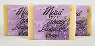 Maui Honey Lavender Soap - Handmade, Luxurious and All Natural - 3 Pack