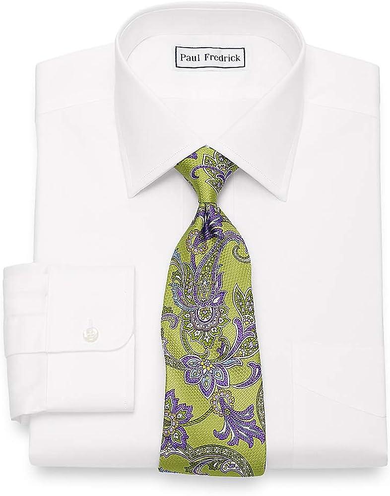 Paul Fredrick Men's Egyptian Cotton Spread Collar Dress Shirt