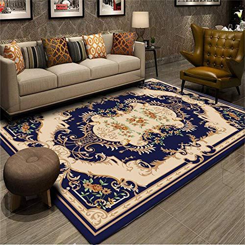 WQ-BBB Tatami La Alfombraes Respetuoso del Medio Ambiente Diseño de Borde de patrón Europeo marrón Azul Decoracion habitacion Bebe 100X200cm