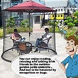 Mosquitera, paraguas, mosquitera, baldaquino mesa de terraza set Screen House – Red de gran calidad, 335 cm 220 cm 335 cm x 220 cm.