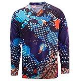 JPOJPO Men's Cycling Jersey MTB T Shirt Long Sleeve Mountain Bike Motorcycle Bicycle Clothes Anti-UV L