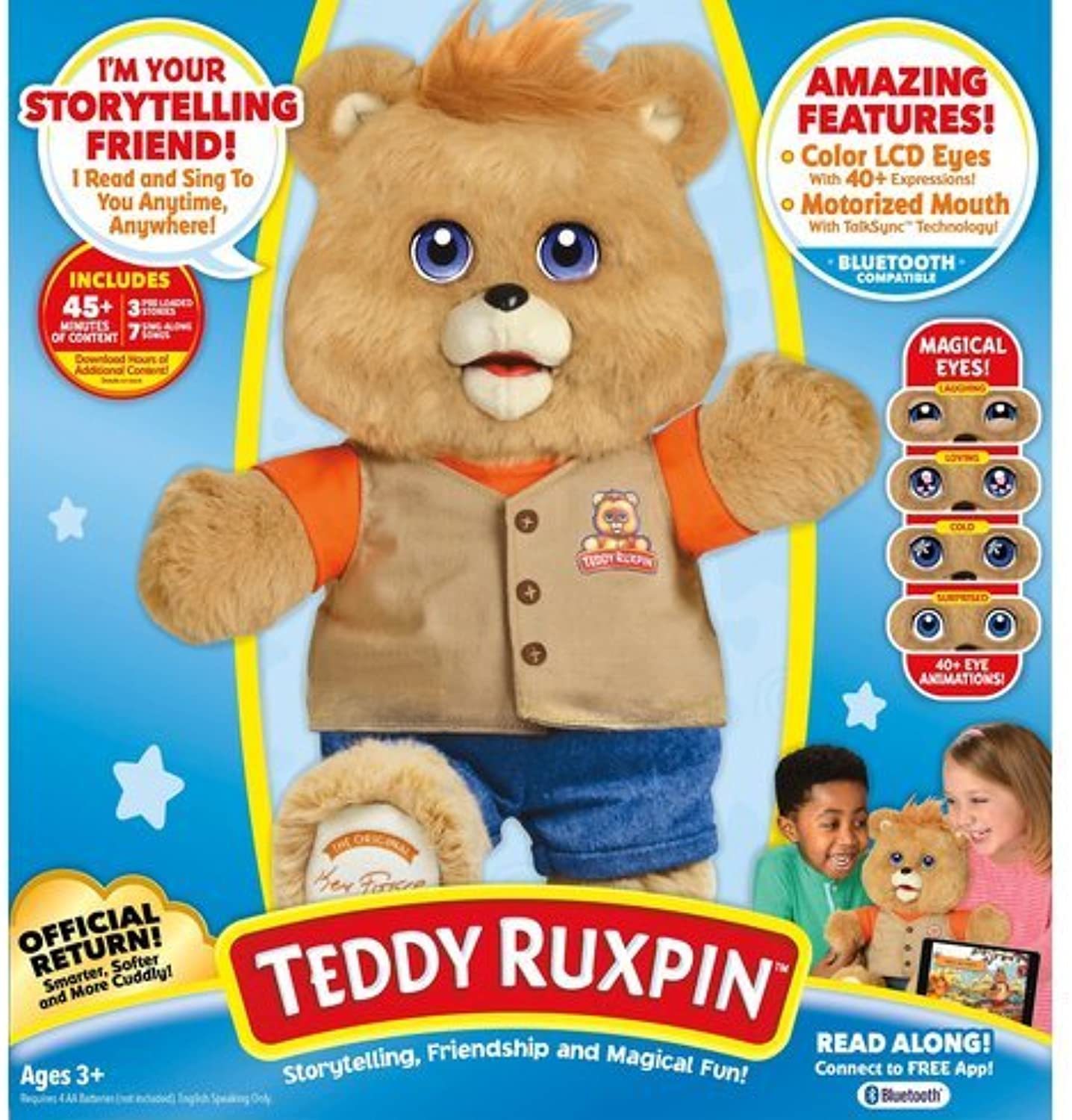Teddy Ruxpin Interactive Bear With blueetooth Connectivity Comes With Three Stories Included