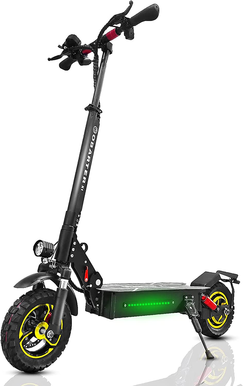 OBARTER Patinete Electrico Adultos Plegable de hasta 60 Km, 55 KilóMetros por Hora, Tres Modos de Velocidad, Motor de 1000 W, BateríA de 48 V y 20 Ah, Freno de Disco,Ruedas 10 Pulgadas