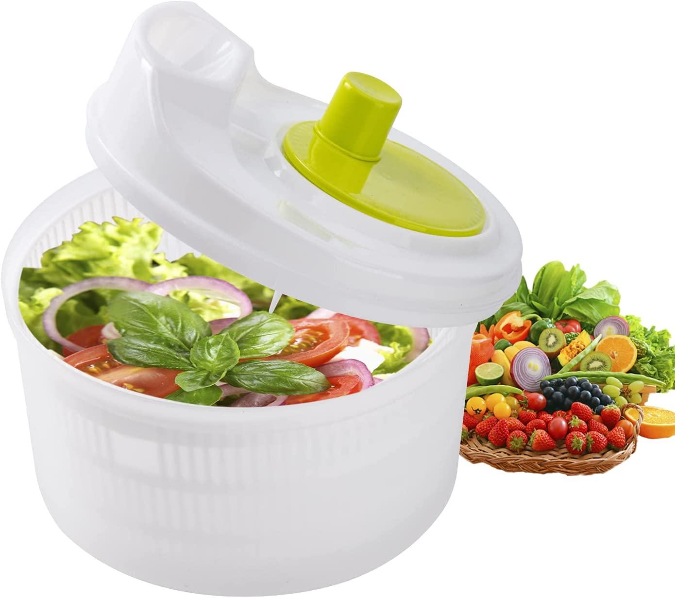 Salad Spinners - Zerdie NEW before selling Vegetable Washer Strainer Drainer latest Dryer