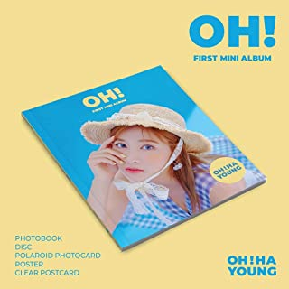 Play M Entertainment OH HA Young APINK - OH! (1st Mini Album) CD+80p Photobook+1Polaroid Photocard+Clear Postcard+Folded Poster+Double Side Extra Photocards Set