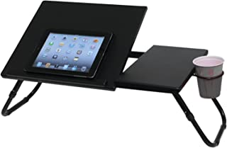 Atlantic Large Format Laptop Tray - 27 Inches Wide, 13.75 Inches Deep, 2 Sections, Smooth Finish Legs PN 33935843 in Black