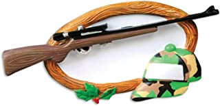 Personalized Hobbies Activities Hunting Christmas Tree Ornament 2019 - Rifle Gun Fatigue Hat Wood Sign Huntsman Stalker Trapper Wildlife Shooting Sport Profession Gift Year - Free Customization