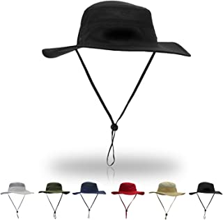 HAODIAN Unisex Sun Hat UPF 50+ Wide Brim Bucket Waterproof Fishing Boonie Hats UV Protection Sun Caps