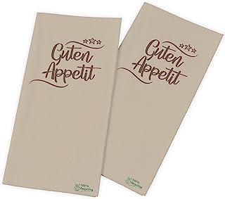 Funny Motiefservetten - Guten Appetit | 33x33cm, 2-laags, 1/8 vouw, bruin | 100% gerecycled papier | 2000 stuks