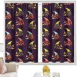 Cortinas con bolsillo para barra de acuario, figuras de peces coloridos puntos de ancho x 152 cm de largo x 63 cm de profundidad para dormitorio