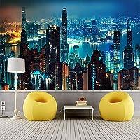 都市の建物の風景カスタム 3D 写真の壁紙寝室の壁 3D モダンなリビングルームのソファテレビの背景の壁の壁画,350(W)*256(H)Cm