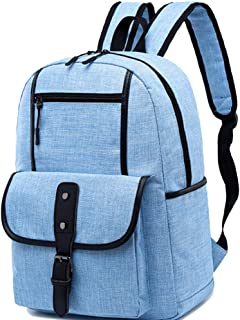 CHENDX Handbags Fashion Men and Women Couple Casual Backpack Large Capacity Zipper Backpack Retro Canvas Travel Bag (Color : Blue, Size : 40 * 30 * 14m)