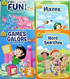 School Zone Workbooks - Mazes - Word Search - Games Galore and Fantastic Fun - Colouring And Activity Books - (Set of 4 books)