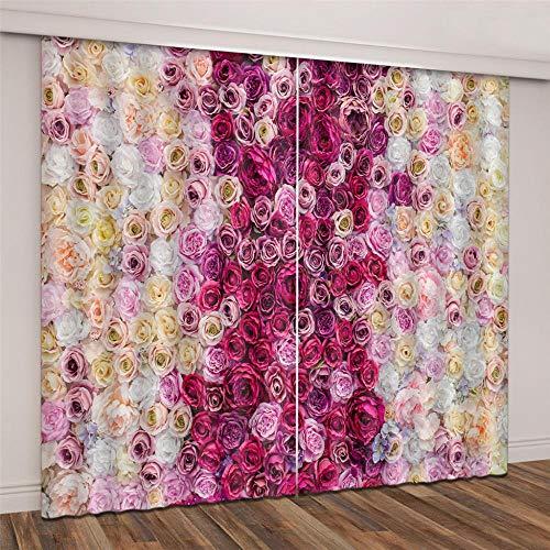 cortinas dormitorio rosa chicle