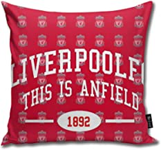 """Liverpool Fc Anfield Cotton Linen Home Decorative Throw Pillow Case Cushion Cover for Sofa Couch, 18"""" X 18"""""""