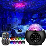Star Night Light Projector,3 in 1 Galaxy Light Projector,Remote Control LED Light Projector with Bluetooth Music Speaker for Child Kids Adults Bedroom Decoration Party Home Holidays