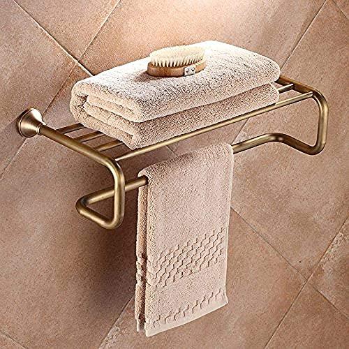 WHZG toalleros Toallas montadas en la Pared Racks Hanger Baño Toalla Toalla Estante Copos Accesorios de baño toallero