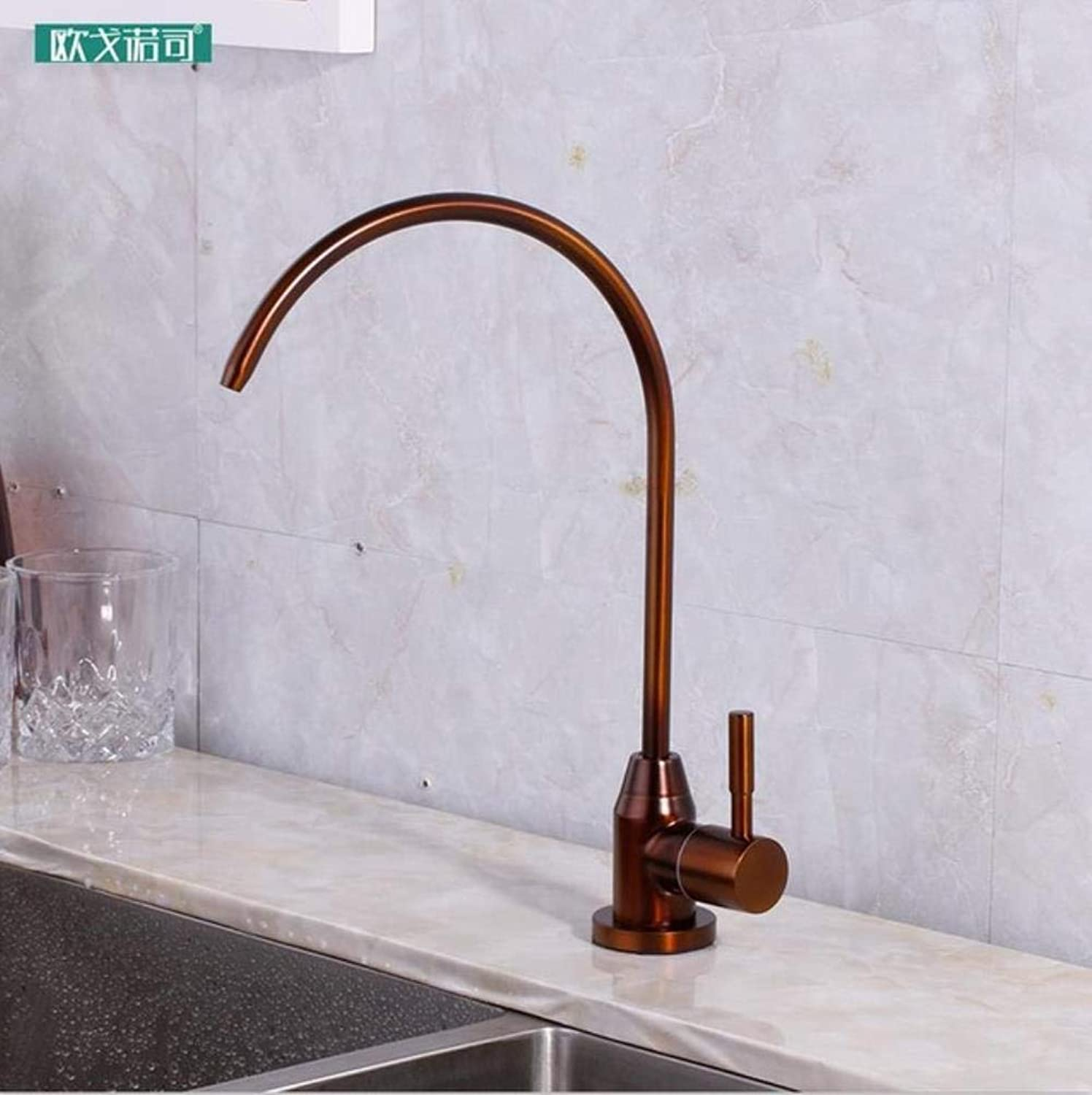 Kai&Guo Champagne and bronze color drinking water filter faucet for kitchen,C