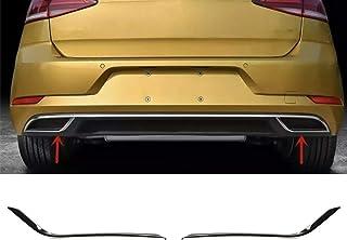 AUTOLIGHT 24 Chrom Rahmen Abdeckung Edelstahl Auspuff R Look für Golf 7 und Sportsvan