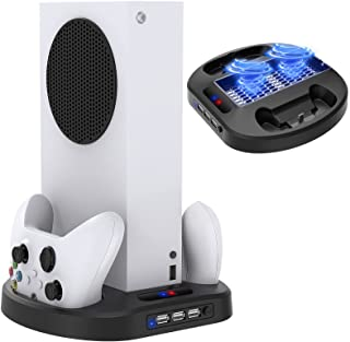Vertical Charging Stand for Xbox Series S Controllers with Cooling Fan, MENEEA Charger Dock Station with LED Indicator and...