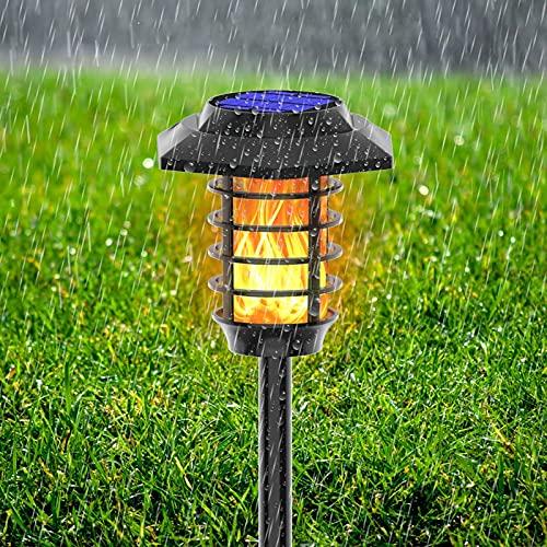 Sollampor trädgård utomhus solbelysning vattentät begravd spotlight LED landskap fackla lampa dekor solpollare lampa LED solstift lampor 48 LED