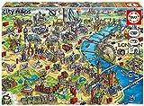 Educa Borras - Serie City Maps, Puzzle 500 piezas Mapa de Londres